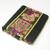 アンデス伝統織物アワヨ布 / 黒地 [ボリビア製]