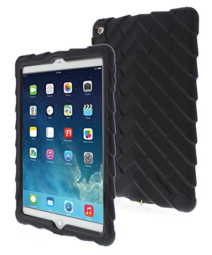 Apple iPad Air 2 Drop Tech Black Gumdrop Cases Silicone Rugged Shock Absorbing Protective Dual Layer Cover Case (Best Keyboard Case For Ipad Air 2 compare prices)