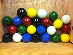 Mega Marbles Set Of 24 1 SHOOTER Marbles Solid Colors (4 Of Each Color)