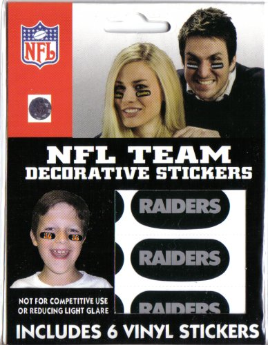 Oakland Raiders Decorative Face Stickers - Buy Oakland Raiders Decorative Face Stickers - Purchase Oakland Raiders Decorative Face Stickers (The Party Animal, Inc., Home & Garden,Categories,Patio Lawn & Garden,Outdoor Decor,Banners & Flags)