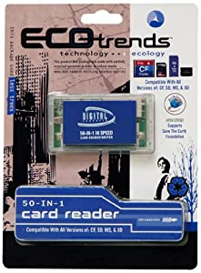 Sakar Eco Trends 50-in-1 Flash Memory Card Reader