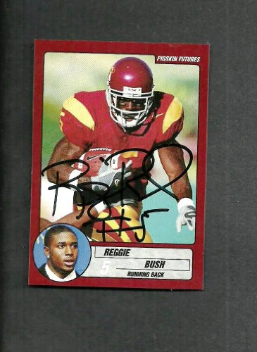 Reggie Bush USC Signed Autographed 2005 Pigskin Futures Rookie Card Mint (Reggie Bush Rookie Card compare prices)