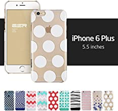 iPhone 6 Plus Case, ESR the Beat Series Protective Case Bumper[Scratch-Resistant] [Perfect Fit] Translucent Hard Back Cover with Clear Polka Dots for 5.5 inches iPhone 6 Plus (Clear Polka Dots)