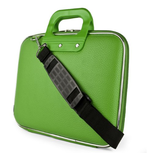 Sony Sumaclife Cady Collection Durable Semi Hard Shell Protective Carrying Case W\/ Removable Shoulder Strap (Green) For Sony VAIO S Series \/ Sony VAIO 13 Convertible Touch Ultrabook \/ Sony VAIO Pro 13 Touch Ultrabook \/ Sony VAIO 13 Touch Ultrabook \/ Sony VAIO Duo 13 Convertible Touch Ultrabook \/ Sony VAIO T Series 13 Ultrabook 13.3 Inch Laptops (Multicolor)