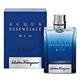 Salvatore Ferragamo Acqua Essenziale Blu Eau de Toilette Spray for Men, 3.4 Ounce (Color: Eau De Toilette Spray, Tamaño: 100ml/3.4oz)