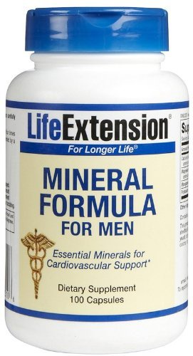 Life Extension Mineral Formula For Men | 100 capsules ( Multi-Pack)