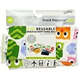 Itzy Ritzy Snack Happened Mini Reusable Snack Bag, Hoot, 1-Pack