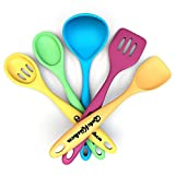 """GuteKüchen Premium 5 Piece Seamless Silicone 11"""" Kitchen Utensil Set, Nonstick and Heat Resistant 