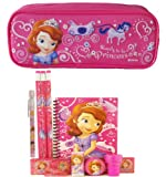 Disney Princess Sofia Pencil Case with Stationery Set - Hot Pink