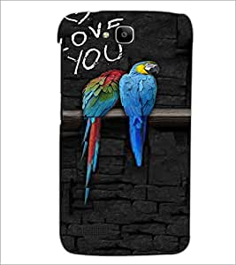 Printdhaba Love Birds D-3216 Back Case Cover For Huawei Honor Holly
