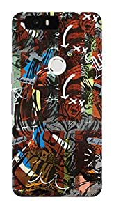 Koveru Designer Printed Protective Snap-On Durable Plastic Back Shell Case Cover for Huawei Google Nexus 6P - Libra