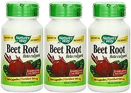 Nature\'s Way Beet Root Powder Capsules 500 Mg, 100-count (3 pck)