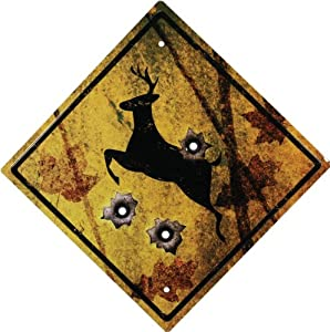 Rivers Edge 1485 Deer Crossing Tin Sign