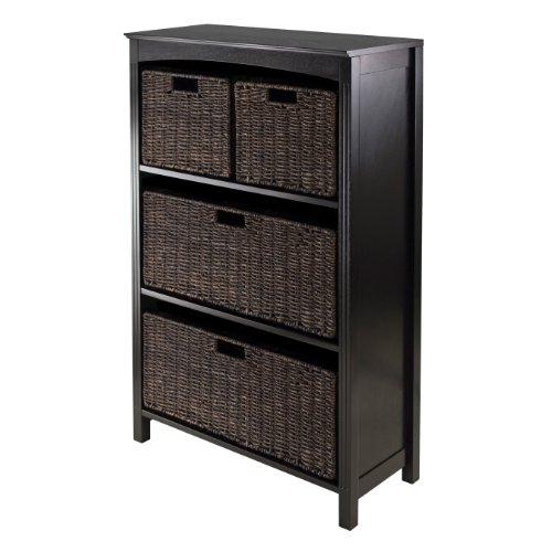 Winsome Terrace 5-Piece Storage Shelf/Bookcase 2 Shelf 5 Shelf Bookcase