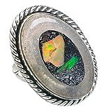 Ethiopian Opal, Opale Éthiopienne Argent Sterling 925 Bague 6.5