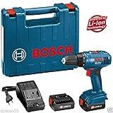 Bosch GSR 1800-LI 18V 1.5Ah Cordless drill/driver (2x 1.5 Ah Li-Ion batteries)