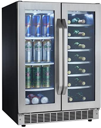 Danby DBC7070BLSST Silhouette Select Built-In Dual Zone Beverage Center / Wine Cooler