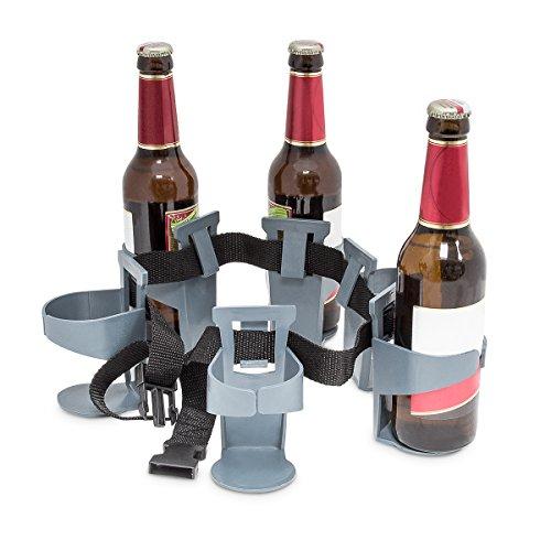 Relaxdays Cintura Porta Birra Porta 6 Bottiglie o Lattine di Birra 90cm