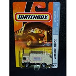 Mattel Matchbox 2007 MBX City Action 1:64 Scale Die Cast Metal Car # 47 - Think Green, Think Globally, Recycle Locally Garbage Truck
