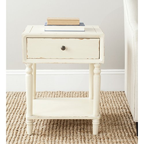 Safavieh American Home Collection Siobhan Vintage Cream Accent Table 0
