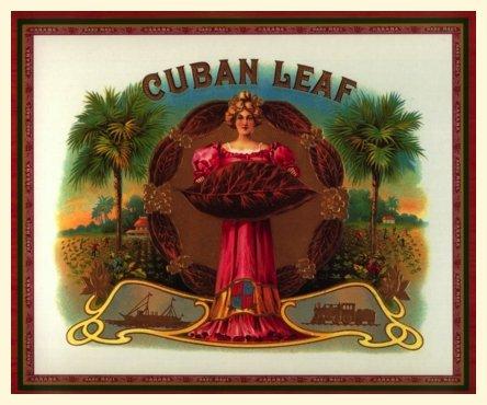 """12x18 Cuban poster""""Tobacco Leaf.Vitola""""Cigar Decor.Bar. 008"""