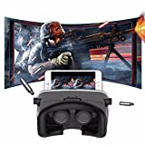 Virtual Reality Headset, SIDARDOE 3D VR Glasses for iPhone 6 6s Plus Samsung HTC Sony and Other Android Smartphones Black