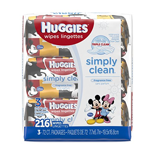 Huggies Simply Clean Wipes - 216 Count - Unscented