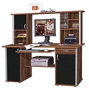 computertisch mit aufsatz bestseller shop f r m bel und. Black Bedroom Furniture Sets. Home Design Ideas