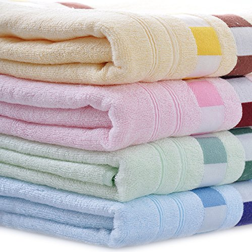 4-Pack: 27Inches X 55Inches 100% Bamboo Fiber Extra-Absorbent Bath Towels
