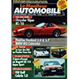 MONITEUR AUTOMOBILE (LE) [No 1060] du 20/07/1994 - CHRYSLER VIPER RT - 10 - PONTIAC FIREBIRD 3.4 ET 5.7 - BMW...