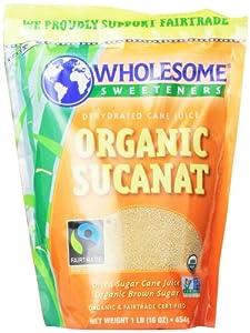 Wholesome Sweeteners Fair Trade Org Sucanat (Brown Sugar)Pouches - 16 oz