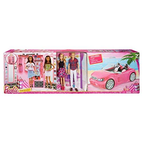 Mattel CNC16 - Mega Pack Dress Up 2016 ( 1 Barbie / 1 Ken / 1 Auto Glam / 1 Armadio Da Sogno ) Limited Edition
