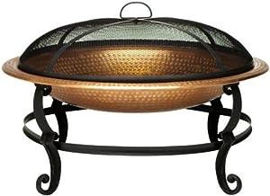 "Copper plated Fire Bowl, 20""Hx29""Wx30""D, BLACK"