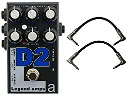 AMT Electronics Legend Amp Series II D2 Diezel Preamp/Distortion Pedal w/ 2 Cables by AMT Electronics