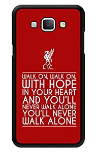 """Humor Gang Walk On Walk On Quote Printed Designer Mobile Back Cover For """"Samsung Galaxy A8"""" (3D, Glossy, Premium Quality Snap On Case)"""