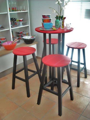 casa bruno bar gruppe contempo 4 hocker tisch 61 cm aus recyceltem polywood hdpe. Black Bedroom Furniture Sets. Home Design Ideas