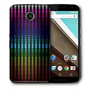 Snoogg Colourful Stripe Printed Protective Phone Back Case Cover For LG Google Nexus 6