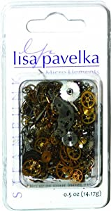 Lisa Pavelka Watch Parts for Crafting, 1/2-Ounce, Silver, Brass, Copper, Black and Steam Punk