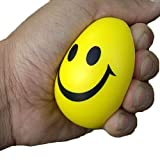ensunpal store 6.3cm Squeeze Ball Smile Face Hand Wrist Exercise Stress Relief Toy Venting Ball