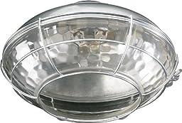 Quorum 1374-809, Medium Clear Hammered Glass Patio Light Kit, Galvanized