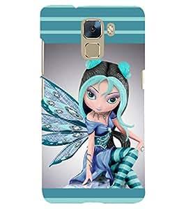 PRINTSHOPPII ANGEL Back Case Cover for Huawei Honor 7