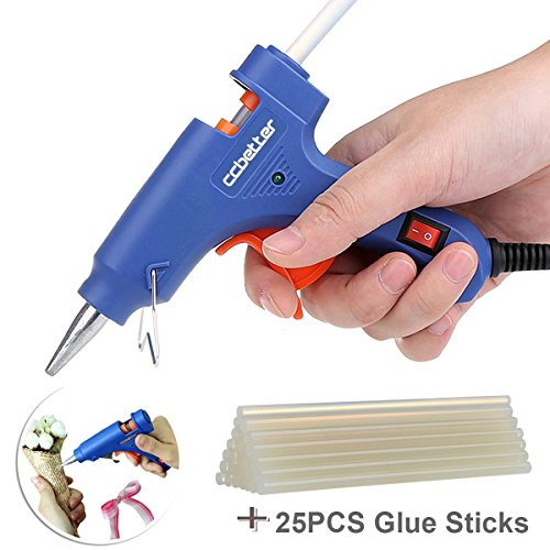 Best Review Of CCbetter® Mini Hot Glue Gun with 25 pcs Melt Glue Sticks High Temperature Melting Gl...