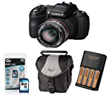 Fujifilm HS20 Digital Camera 8GB + Batteries +Charger + Case (Fujifilm FinePix HS20 16MP, 30x Wide Optical Zoom 3 inch Tilting LCD Picture