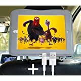 iPad Air Car Mount Headrest Holder Tablet Seat Holder Including a Long USB Cable