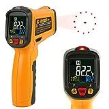 赤外線放射温度計 Janisa PM6530B 非接触デジタル温度計 温度測定銃 範囲-50℃~550℃/-58°F~1022°F カラーディスプレイは データ保持機能 アラーム機能付き 乾電池付き