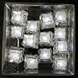 Water Submersible LED Ice Cubes- White- 24pcs- Party Supplies or Decorations