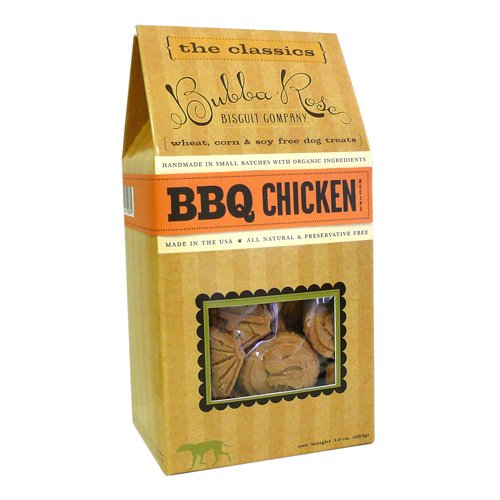 Bbq Chicken - Bubba Rose Boxed Dog Biscuits - 10 Ounces
