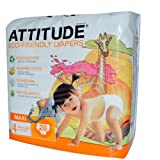 Attitude Eco Friendly Size 4 Disposable Nappies for 9-14Kg  - Pack of 26 Nappies