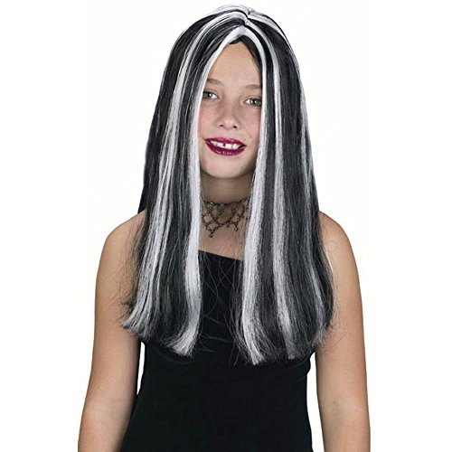 Kid's Streaked Witch Costume Wig