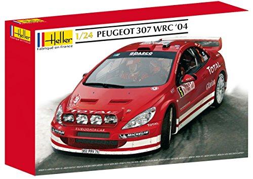 heller-peugeot-307-wrc-04-car-model-building-kit-63-parts